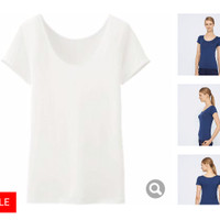 Original Uniqlo Women AIRism Scoop Neck T-Shirt