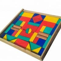 Jual Mainan edukatif / edukasi anak balok kayu arsitek Paud, city blok C48 Murah