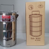 Zebra Rantang / Food Carrier Stainless Steel 10 cm 4 Tingkat SUS304 Th