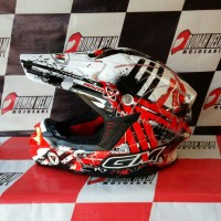 harga helm trail motocross GM Supercross motif #Neutron white/red Tokopedia.com