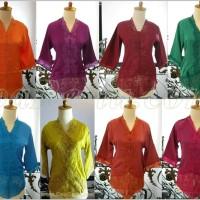 Jual baju Kebaya Encim katun sutra lengan panjang pendek tanggung modern Murah