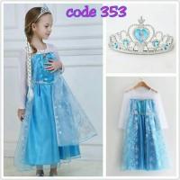 Jual kostum elsa princess frozen / baju dress elsa welcome resellers 3531 Murah
