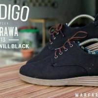 Sepatu casual pria Prodigo Ambarawa black original hand made