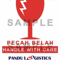 Sticker Fragile / Pecah Belah PANDU LOGISTICS REGULER