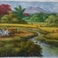 Lukisan Pemandangan Sawah (DK041)