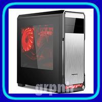 SEGOTEP GAMING CASE THE WIND Black Silver - Side Window - 12CM Led Fan