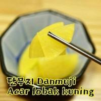 Korean Danmuji Yellow Pickle Radish Acar Lobak Kuning 220g Halal