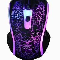 Havit Ergonomic Wired Mouse, 1200 DPI, 7 Soothing LED Warna Hv-Ms 763