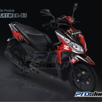 Striping Motor Vario Techno 110cc Gambar Monster Energy Prostiker