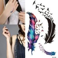 Jual Temporary tattoo goose feather / tato trendy / tato import Murah