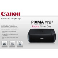Printer Canon MP287 PSC New - No Cartridge / Tanp Tinta