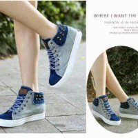 Sepatu wanita kets stut biru [ sendal / sandal cewek ]