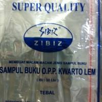 Sampul plastik buku kuarto dengan seal lem ZIBIZ