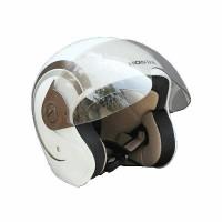 Helmet Resmi Scoopy White Brown