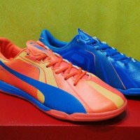 Puma Evospeed Tricks Blue Orange - IC [Sepatu Futsal] [Replika Import]