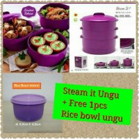 Steam It Tupperware Kukusan 3 Susun Purple Ungu