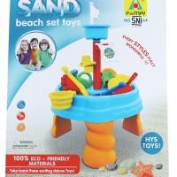 Mainan Anak Play Sand Beach Set Toys Cetakan Main Air Pasir Meja Ember