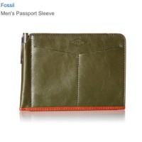 Fossil Passport Sleeve (passport case/holder/dompet