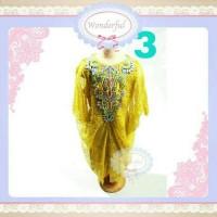 Baju Branded Import KAFTAN ANAK Gold Emas BIG SIZE Gamis Anak