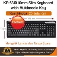Slim Multimedia Keyboard IRocks KR-6310 Scissor Key - Hitam