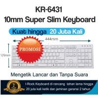 Slim Keyboard IRocks KR-6431W Scissor Key Terrace Keycap - Putih