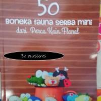 buku 50 boneka fauna mini dari perca kain flanel