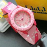 Jam tangan Q&Q ANAK-ANAK / WANITA PINK VQ96 QQ VQ-96 ORI MERAH MUDA