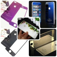Jual TEMPERED GLASS IPHONE 4 4S 4G 5 5S 5G 6 COLOR NANO SLIM Murah