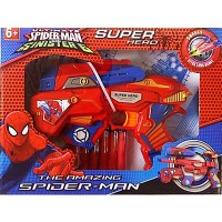 MAINAN PISTOL SUPER HERO SB 267 AMAZING SPIDER-MAN SOFT BULLET BLASTER