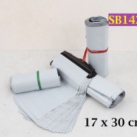 Amplop Plastik Shipping Bag Mail Bag 17x30cm White Poly Mailer - SB142