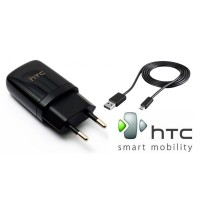 CHARGER HTC DESIRE 300 816 ONE X M7 M8 M9 MINI MAX 1A ORIGINAL (Black)