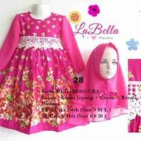 Baju Muslim/Gamis Anak Labella (Usia 2 - 6th)