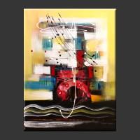 Lukisan Abstrak Batik Bali