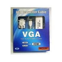 Jual Konverter Kabel VGA To HDMI + Audio Netline Baru | Aksesoris TV