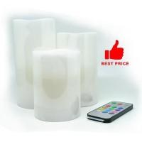 Jual Flame Free LED Candles 3 Pcs With Remote Control Baru | Aksesor