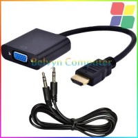 Jual HDMI to VGA D-SUB Converter with Audio Out + Cable Baru | Akses