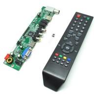 Jual Universal LCD Controller Board TV Motherboard VGA / HDMI / AV / TV / U