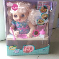 BONEKA BABY ALIVE / BABY ALIVE DOLL TALK PEE AND POOP