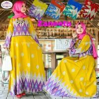 gamis katun bangkok : zaneeta maxy ori