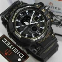 Jam Tangan Digitec DG-2065T Hitam List Gold Digitec 2065 DG-2065