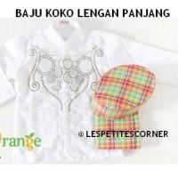 Baju Koko Anak Balita Putih Lengan Panjang (3,4,7 tahun) Kode A