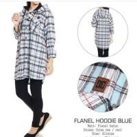 kemeja murah wanita flanel hoodie