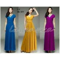 Harga ladies long dress sr377 dress tanah | antitipu.com