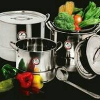 Stock Pot VICENZA With Steamer & Lids 12 Pcs