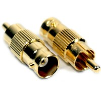 BNC Connector male Gold