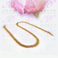 Yaxiya kalung rantai perhiasan imitasi lapis emas aksesoris