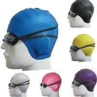 Penutup kepala/Topi renang merk Speedo Nutup sampai Kuping