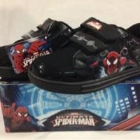 Sepatu anak Spiderman - Marvel Amazing Spider - all black (Sz. 28-33)