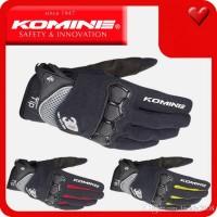 Jual Sarung Tangan / Gloves Komine GK162 (KOMINE GK-162)bisa touchscreen HP Murah