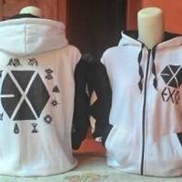 EXO 12 LOGO VARSITY baseball jacket jaket member kai sehun kpop korea